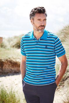 The stripe pique polo shirt