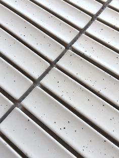 Range of finger mosaic or kit kat tiles Brick Look Tile, Concrete Look Tile, Marble Look Tile, Stone Look Tile, Blue Mosaic, Mosaic Tiles, Brick Bonds, Blue Fingers, Vinyl Tiles