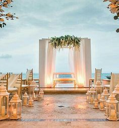 Modern outdoor ceremony arrangement
