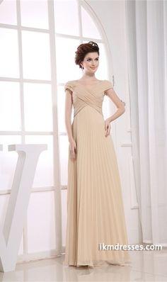 http://www.ikmdresses.com/Champagne-Floor-Length-Chiffon-Criss-Cross-Bridesmaid-Dress-p19876