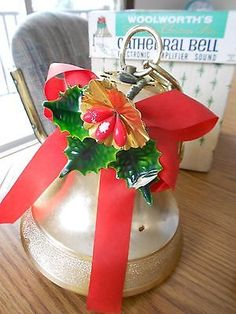 Vintage Woolworth's Musical Cathedral Christmas Bell