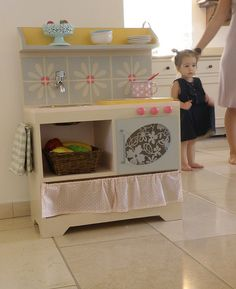 cutest DIY play kitchen ever- make it more boy and R would love