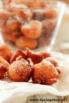 Mini pączki z serka homogenizowanego Pretzel Bites, Bread, Mini, Blog, Brot, Blogging, Baking, Breads, Buns