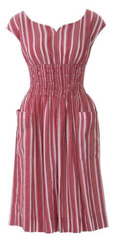 Shirred Dress with Pockets Burda May 2014 #133 Pattern $5.99: http://www.burdastyle.com/pattern_store/patterns/shirred-dress-with-pockets-052014