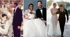 These famous wedding dresses will definitely stand the test of time. Famous Wedding Dresses, Celebrity Wedding Dresses, Celebrity Weddings, Marriage Dress For Bride, Expensive Wedding Dress, Simple Wedding Invitations, Wedding Wishes, Bridal, Elegant