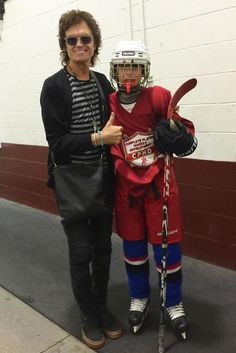 Yours Truly & my nephew Ian. So happy to be here & see him play tonight in Minneapolis. He scored 3 goals...