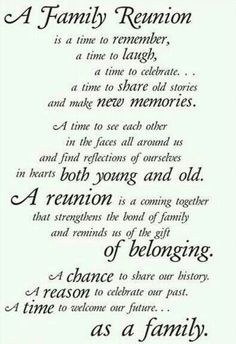 Family Reunion Ideas on Pinterest | Family Reunions, Reunions and ...