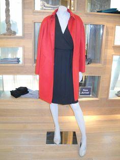Pink Egg-Shape Cashmere & Wool Coat
