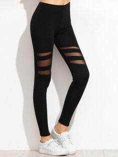 52135b406962 Mesh Einsatz Leggings -schwarz Nike Hosen, Sportkleidung, Sporthose Damen,  Schwarze Hose,