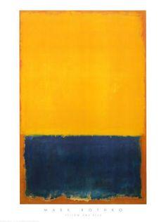 Yellow and Blue Art Print by Mark Rothko at Art.com
