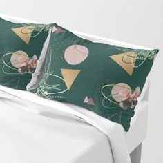 Succulents Atoms #society6 #decor #buyart Pillow Sham
