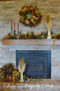 Let's Decorate a Fall Mantel