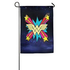 Wonder Woman Logo Comics Lynda Carter Decorative Flags Garden Flag Christian Flag @ niftywarehouse.com #NiftyWarehouse #DC #Comics #ComicBooks #WonderWoman #SuperHeroes