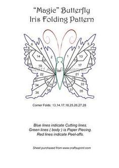 Magic Butterfly Iris Folding Pattern