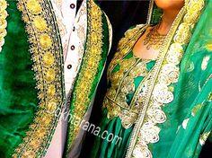 #afghan #wedding #nekah #green #dress
