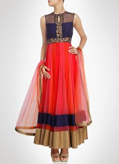 #Queenly Look Net Ankle Length #Anarkali Suit