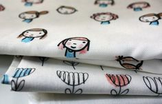 Tutorial: How to create fabric from drawings [Spoonflower is a website where you can buy, sell & upload fabric-print designs. They have many fabric types and designs for sale]