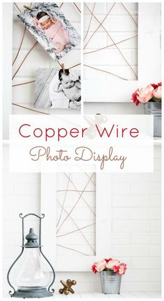 DIY Photo Snapshots holder - Copper Photo Display. TodaysCreativeLife.com