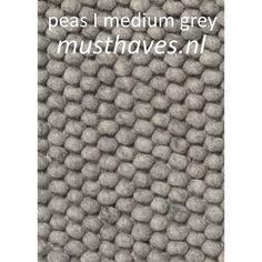 Inspiratie vloerkleed woonkamer: Peas vloerkleed HAY - 3 tinten grijs (300x200)