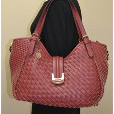 Stopping Traffic Bag...LOVE the red, and I'm loving the woven detailing on this Big Buddha bag! $90.00 @ www.shopciaobellaboutique.com