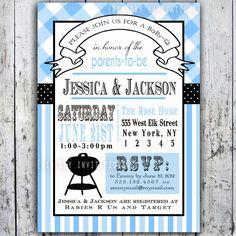 Baby Shower Invitation, Baby Q, Baby BBQ -- Digital Printable Custom Invites.  via Etsy.  $57.50 for 50 invites