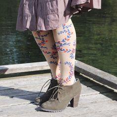 Knee High Vintage Vine Socks Knee high socks | OSFM Peony and Moss Accessories Hosiery & Socks