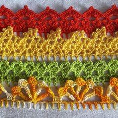 Bico de crochê: 70 modelos e 10 tutoriais com passo a passo Crochet Doily Patterns, Baby Knitting Patterns, Crochet Doilies, Crotchet, Knit Crochet, Diy And Crafts, Crochet Earrings, Embroidery, Blanket