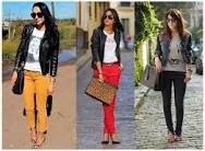 Jaqueta preta e cores
