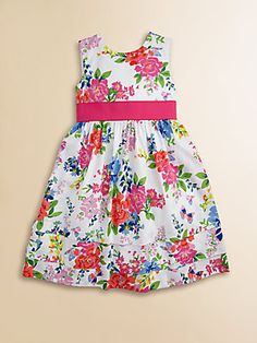 Hartstrings Toddlers & Little Girls Floral Sateen Dress