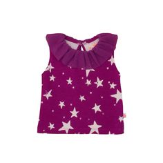 Noé & Zoë SS 16 - Baby blouse in purple invers stars http://www.noe-zoe.com/Collections/SS-16/
