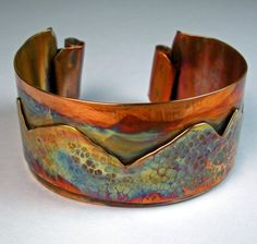 Continental Divide - Forged Copper Cuff
