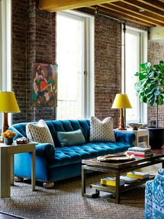 Loft style surfaces with primary pops.