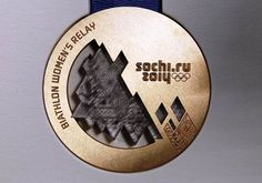 Photo Gallery: Sochi 2014 Winter Olympics and Paralympics medals unveiled Winter Olympic Games, Winter Games, Winter Olympics, Sports Medals, Olympic Medals, World Cup 2014, Fifa World Cup, Volleyball Posters, Sports Posters