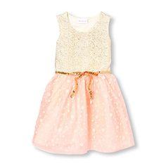 The Children's Place Big Girls' Sparkle Mesh Dress