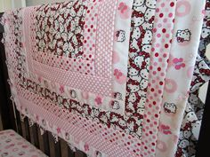 Hello Kitty Baby Quilt by QuiltingThyme on Etsy, $59.00