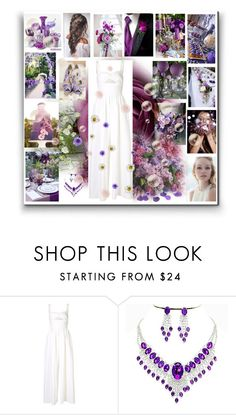 """""""Bridal Jumpsuit"""" by sheri-gifford-pauline ❤ liked on Polyvore featuring Reception, Rosie Assoulin, purple, jumpsuit and bridal"""