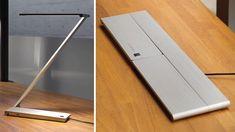 """BE Light"" - a sleek aluminium, flat folding LED task lamp."