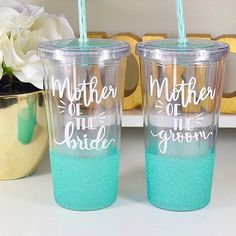 Mother Of The Bride Tumbler - Mother Of The Groom Tumbler - Mother of The Bride Cup - Mother of The Groom Cup - Bridal Party Cups - Hot Coffee, Iced Coffee, Plastic Tumblers, Best Gifts For Her, Personalized Cups, Custom Tumblers, Tumbler Cups, Bride Gifts, Mother Of The Bride
