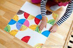 Tvorenie patchworku s deťmi   Neposedné nožnice