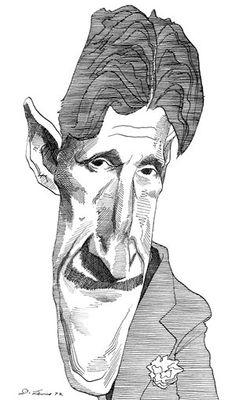 George Orwell - by David Levine  (Animal Farm, 1984)