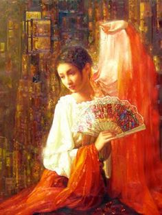 Dance -Women in Painting by Chinese Artist Di Lifeng