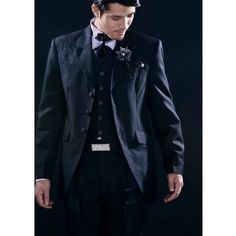 Black Vintage Three Button Single Breasted Wedding Dress Suits Tuxedos for Men SKU-123072
