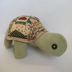 Patch the Patchwork Turtle toy sewing pattern pdf - Folksy | Craft Juice
