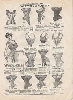Image detail for -Circa 1900s CORSET and LINGERIE from AU BON by petitbrocante
