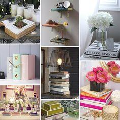 Ideias de decoração com livros - CBBlogers