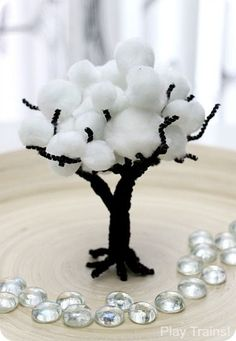 Winter Pom Pom Trees: Fine Motor Activity & Interactive Scenery for Train Sets and Small Worlds from Play Trains!
