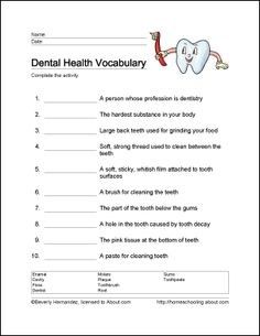 Printables Dental Worksheets hygiene worksheets davezan dental davezan