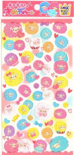 Kawaii Japan Sticker Sheet Assort Candy Series Lovely by mautio, $3.80