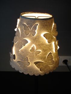 lasercut lamp shade paper butterflys - Google Search