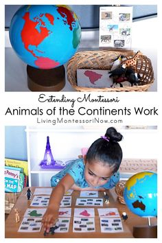 This Montessori animals of the continents uses animal figures and extends previous animals of the continents work for a variety of ages - Living Montessori Now Continents Activities, Geography Activities, Teaching Geography, Social Studies Activities, Educational Activities For Kids, Infant Activities, Kids Learning, Art Activities, Montessori Education